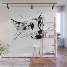 Aurora the cat and her poker face Wall Mural