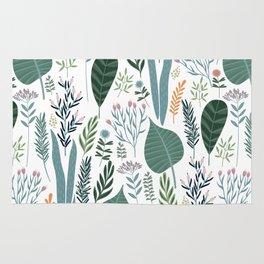 Early Spring Thaw In The Flower Garden Pattern Rug