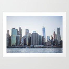 New York Skyline View from DUMBO Art Print