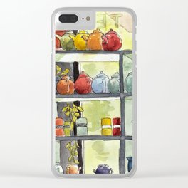 Tea Pots Clear iPhone Case
