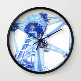 Atomium II Wall Clock