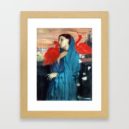 Edgar Degas Young Woman with Ibis Framed Art Print