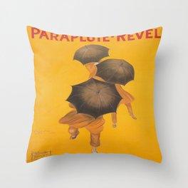 Vintage poster - Parapluie-Revel Throw Pillow