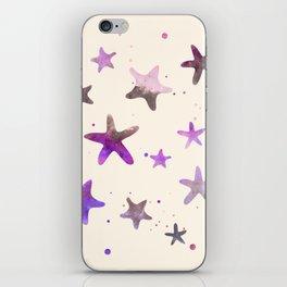 ASH & LAVENDER STARFISH PATTERN iPhone Skin