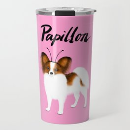 Papillon (Pink) Travel Mug