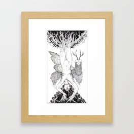 Tarot - Hanged (wo)man Framed Art Print