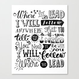 Where You Lead | Gilmore Girls Canvas Print