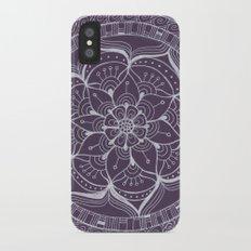 Violet Flower iPhone X Slim Case