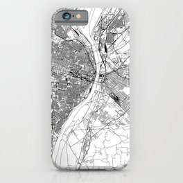 St. Louis White Map iPhone Case