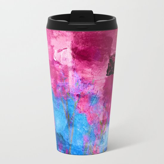 Lavender Field Metal Travel Mug