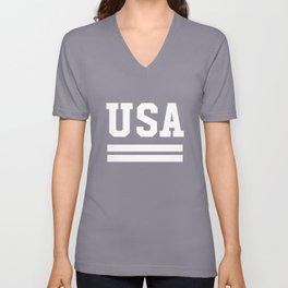 USA Proud American Unisex V-Neck