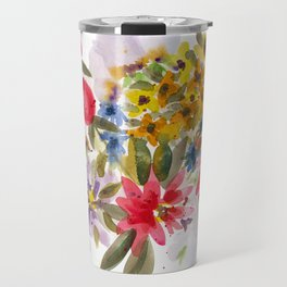 Farmers Market Bouquet 1 Travel Mug