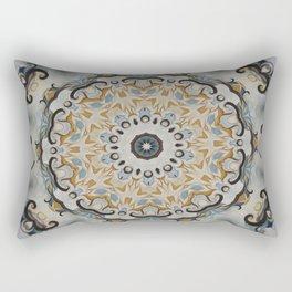 Blue and yellow floral mandala 41 Rectangular Pillow