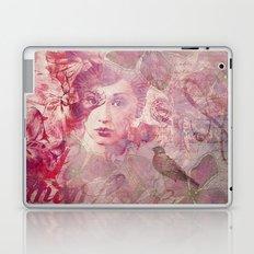 Lost Moments woman romantic illustration Laptop & iPad Skin