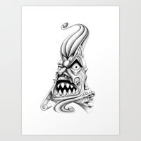 evil eye Art Prints featuring Evil Eye by Drugfreedave