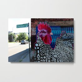 Chicken Alley Metal Print