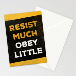 Resist much obey little Stationery Cards