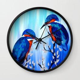 Kingfishers Wall Clock