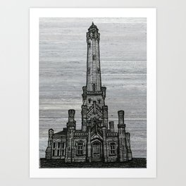 Triptych 2 - Water Tower Art Print