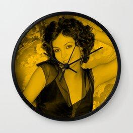 Morena Baccarin - Smily Pose Wall Clock