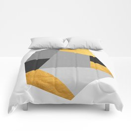 Golden Geometric Art XII Comforters