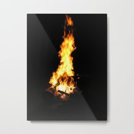 The firepit Metal Print