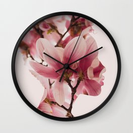 Maid of Flowers Wall Clock