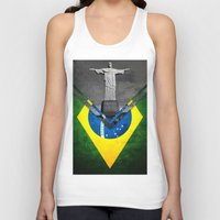 brazil Tank Tops featuring Flags - Brazil by Ale Ibanez