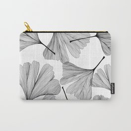 Gingko black and white line drawing Carry-All Pouch
