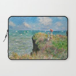1882-Claude Monet-Cliff Walk at Pourville-66 x 82 Laptop Sleeve