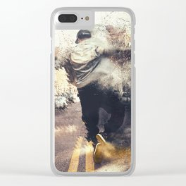 Old School Rules Clear iPhone Case