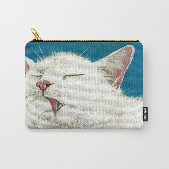 White Cat Grooming Carry-All Pouch