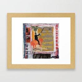 Good grades Framed Art Print