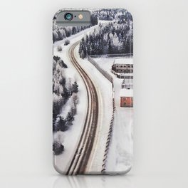 Winter view from the sky iPhone Case