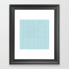 Blue Polka Pattern Framed Art Print