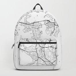 Helsinki Map White Backpack