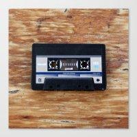 cassette Canvas Prints featuring Cassette by Coconut Living