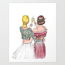 Holiday Cheers Art Print