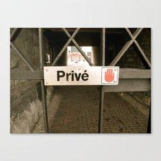 Prive Canvas Print