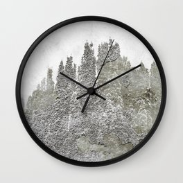 concrete wall and tree Wall Clock