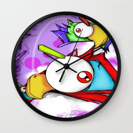 Bird's eye view (kittyhawk) Wall Clock