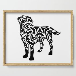 Zentangle Labrador Serving Tray