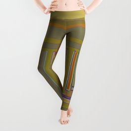 Anomaly in Brown Stripes graphic design Leggings