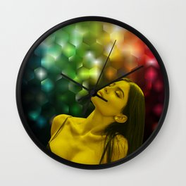 Kylie Jenner - Celebrity - Dreaming Pose (Photographic Art) Wall Clock