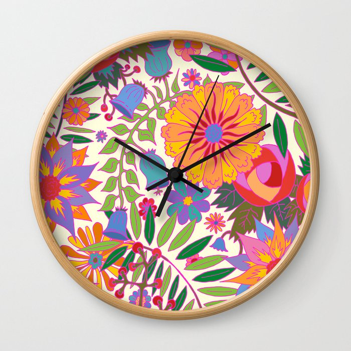 Just Flowers Lite Wall Clock