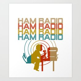 Retro Ham Radio T-Shirt. Best Costume. Art Print