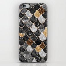 REALLY MERMAID BLACK GOLD iPhone & iPod Skin