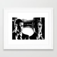 sin city Framed Art Prints featuring Sin City by leonmorley