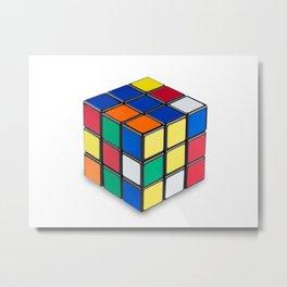 Magic Cube Metal Print