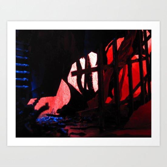 Glitch Space 2 Art Print